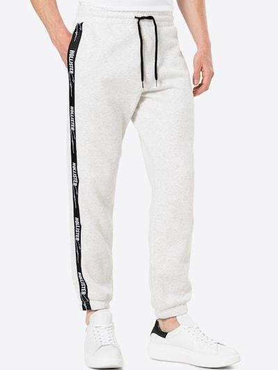 HOLLISTER Hose in graumeliert / schwarz / weiß, Modelansicht
