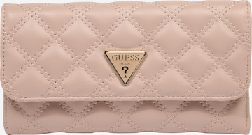 GUESS Portemonnaie 'Cessily' in Pink