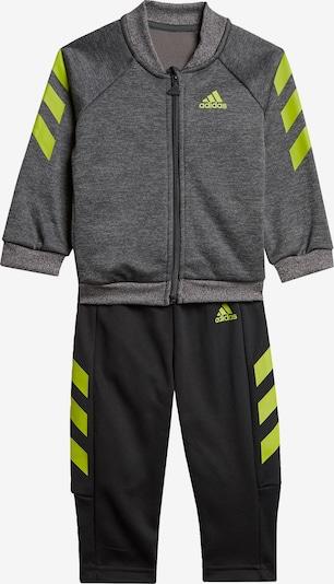 ADIDAS PERFORMANCE Trainingsanzug in dunkelgrau / limette / schwarz, Produktansicht