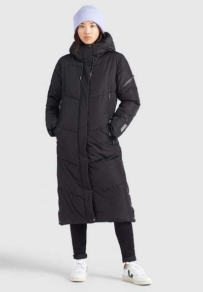 khujo Mantel ' SONJE2 ' in schwarz, Modelansicht