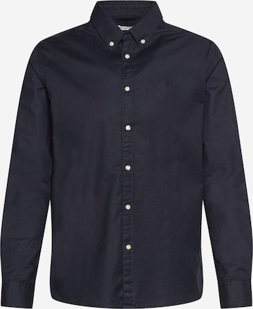 KnowledgeCotton Apparel Hemd 'ELDER' in Blau