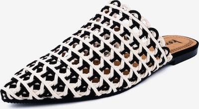 Kamoa Pantolette in schwarz / weiß, Produktansicht