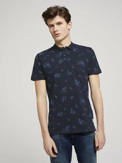 TOM TAILOR DENIM Shirt in de kleur Smoky blue / Donkerblauw: Vooraanzicht