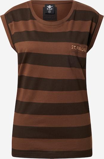 FC St. Pauli T-shirt en marron / brun foncé, Vue avec produit
