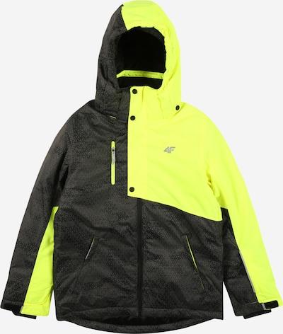 4F Sport-Jacke in gelb / grau, Produktansicht
