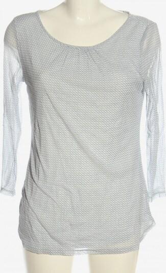 S.OLIVER PREMIUM Langarm-Bluse in L in hellgrau / schwarz, Produktansicht