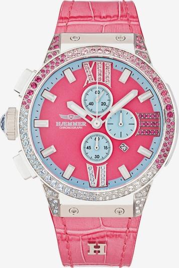 HAEMMER Uhr in blau / pink / silber / weiß, Produktansicht