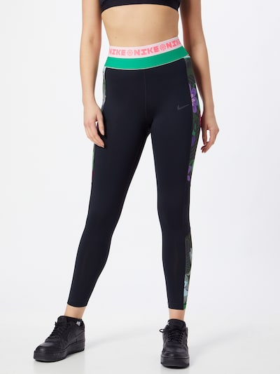 Sportinės kelnės iš NIKE , spalva - žalia / rožinė / juoda / balta, Modelio vaizdas