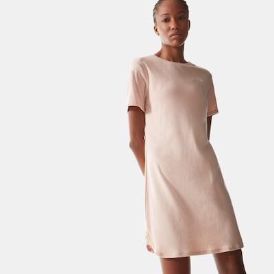 THE NORTH FACE Kleid in pink / weiß, Modelansicht
