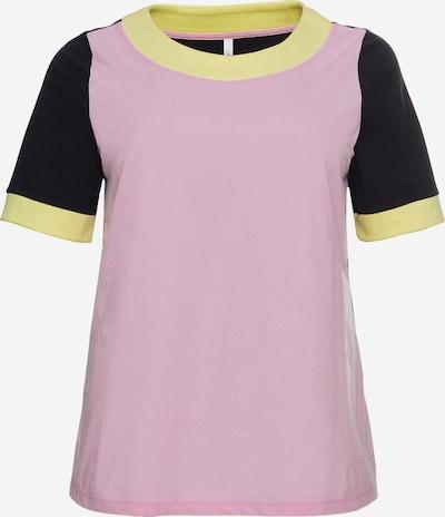 SHEEGO T-Krekls, krāsa - gaiši dzeltens / lillā / melns, Preces skats