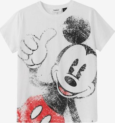 Desigual T-shirt 'MICKEY' en rouge / noir / blanc, Vue avec produit