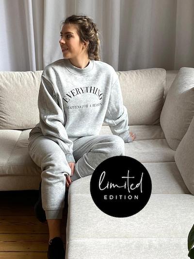 ABOUT YOU Limited Sweat-shirt 'Kira' en gris chiné: Vue de face