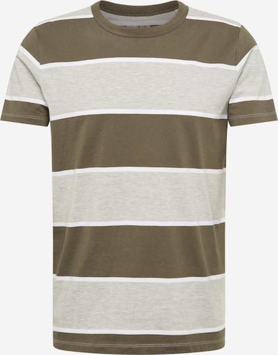 EDC BY ESPRIT T-Shirt in graumeliert / khaki / weiß, Produktansicht