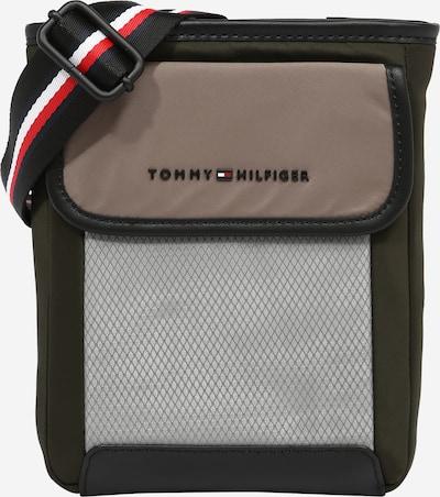 TOMMY HILFIGER Чанта за през рамо тип преметка в сиво / Грейдж / Каки / оранжево / бяло, Преглед на продукта