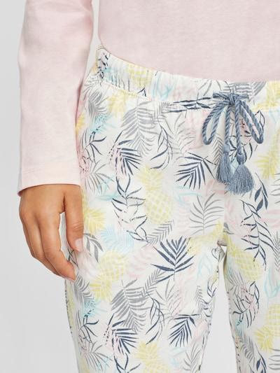VIVANCE Pyjama en aqua / jaune pastel / bleu violet / rose / blanc, Vue avec produit