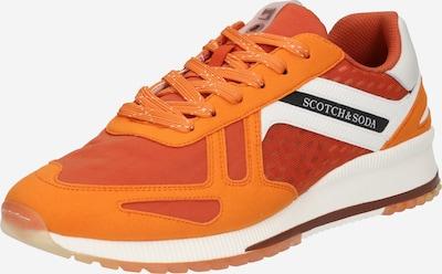 SCOTCH & SODA Baskets basses en orange / orange foncé / noir / blanc, Vue avec produit