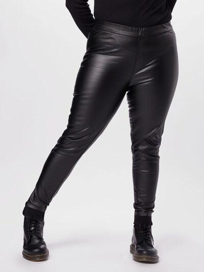 KAFFE CURVE Traper tajice 'Cadelen' u crni traper, Prikaz modela