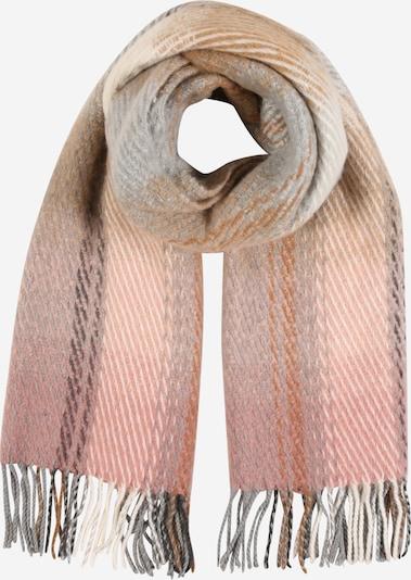 PIECES Schal 'Silina' in grau / rosé / puder, Produktansicht