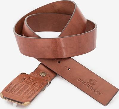 CIPO & BAXX Sportlicher Gürtel aus echtem Leder in braun, Produktansicht