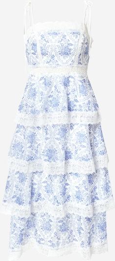 True Decadence Cocktailjurk in de kleur Royal blue/koningsblauw / Wit, Productweergave