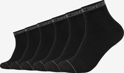 MUSTANG Kurzsocken 'Ethan' im 6er Pack in schwarz, Produktansicht