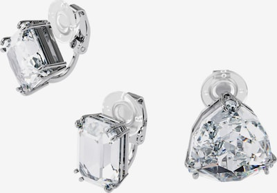 Cercei Swarovski pe argintiu / transparent, Vizualizare produs