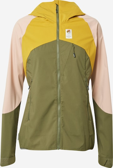 Maloja Outdoor jacket 'EmeritaM.' in Yellow / Olive / Pink, Item view