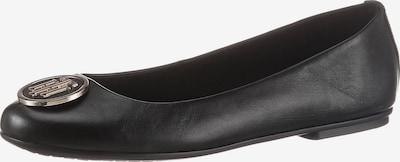 TOMMY HILFIGER Ballerina in schwarz / silber, Produktansicht