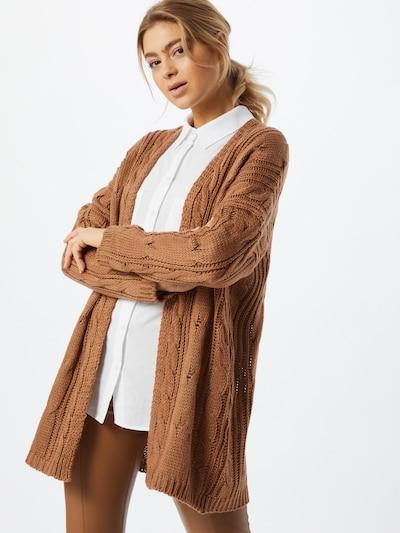 Hailys Strickjacke 'Lara' in braun, Modelansicht