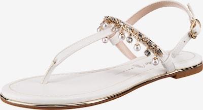 Sandale 'Rachel' BUFFALO pe auriu / transparent / alb, Vizualizare produs