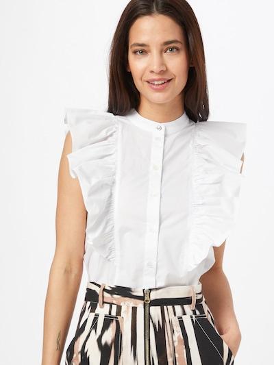 PATRIZIA PEPE Bluse in weiß, Modelansicht