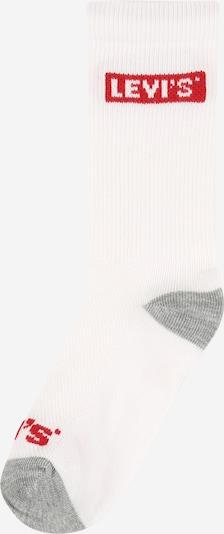 LEVI'S Socks in mottled grey / Red / White, Item view