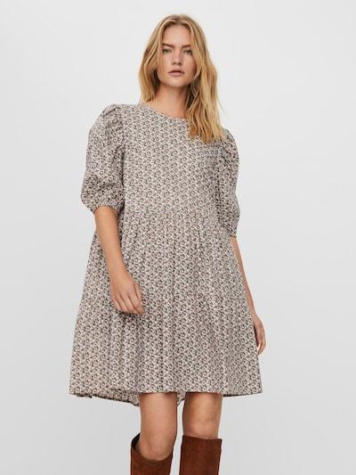 VERO MODA Kleid 'Lykke' in grün / pfirsich / hellpink / schwarz, Modelansicht