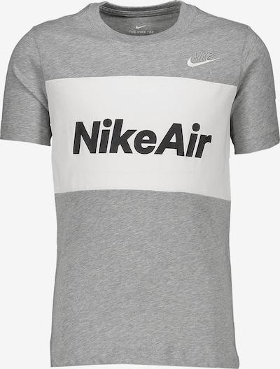 Nike Sportswear T-Shirt in grau / weiß, Produktansicht