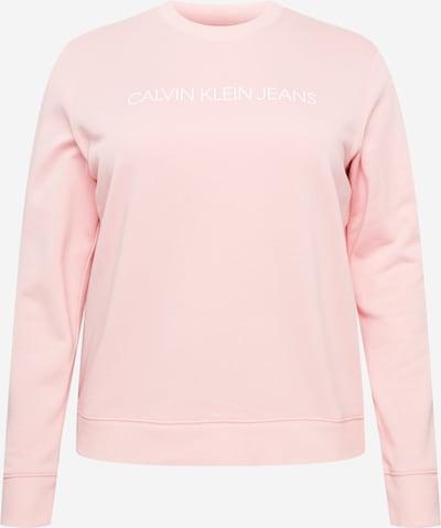 Bluză de molton Calvin Klein Jeans Curve pe roz / alb, Vizualizare produs