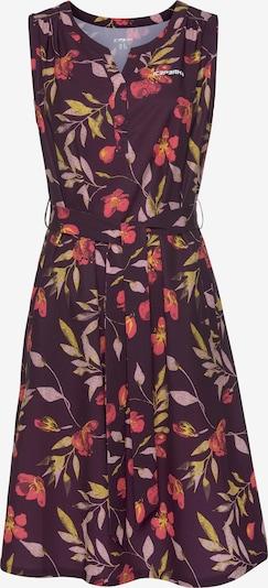 ICEPEAK Kleid 'Bountiful' in gelb / schilf / pastelllila / pink / purpur, Produktansicht