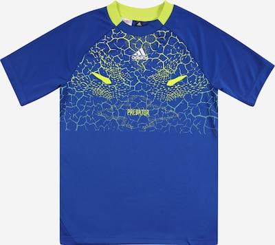 ADIDAS PERFORMANCE T-Shirt in blau / limette, Produktansicht