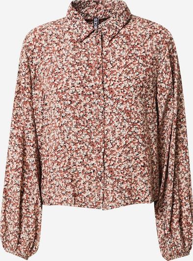 PIECES Bluse 'Dora' in hellpink / schwarz / weiß, Produktansicht