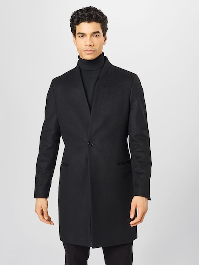 HUGO Between-seasons coat 'Utaro' in black, View model