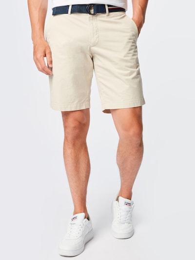 TOMMY HILFIGER Pantalon chino 'BROOKLYN' en beige / bleu marine / rouge / blanc, Vue avec modèle