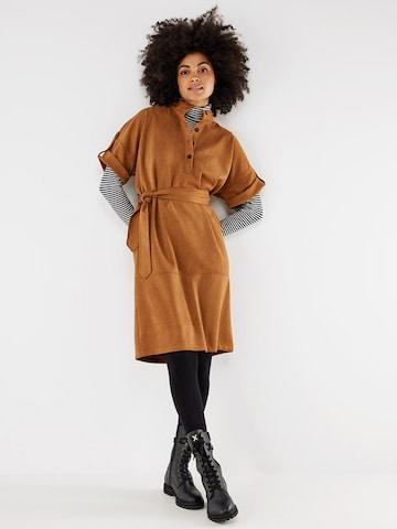 MEXX Shirt Dress in Brown