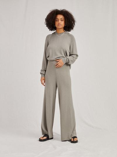 A LOT LESS Pantalon 'Fenja' en gris foncé, Vue avec modèle