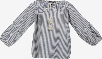 DreiMaster Vintage Bluse in blau / weiß, Produktansicht