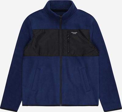 Abercrombie & Fitch Fleece jas in de kleur Donkerblauw / Zwart, Productweergave