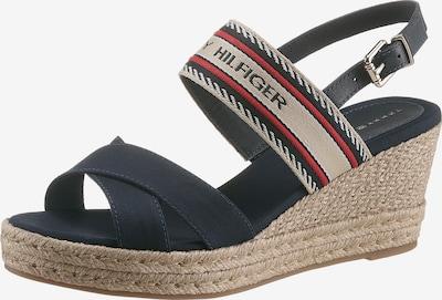 TOMMY HILFIGER Sandale in beige / dunkelblau / rot / schwarz, Produktansicht