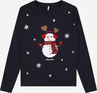 KIDS ONLY T-Shirt 'CHRISTMAS' en bleu foncé / rouge / blanc, Vue avec produit