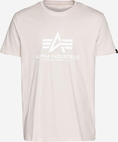ALPHA INDUSTRIES Tričko - krémová / biela, Produkt