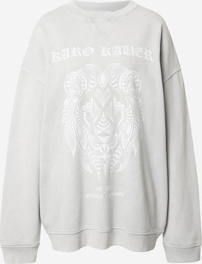 Karo Kauer Sweatshirt in hellgrau / weiß, Produktansicht