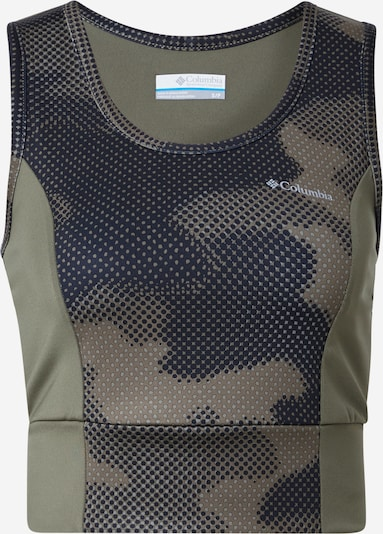 COLUMBIA Toppi 'Windgates II' värissä harmaa / khaki / musta: Näkymä edestä