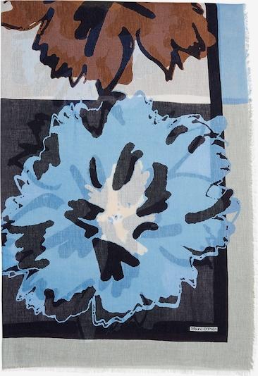 Marc O'Polo Schal in blau / braun / hellgelb / mint / schwarz, Produktansicht